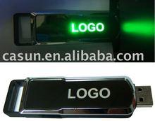 Costomizable logo LED luminous usb with hi-speed flash