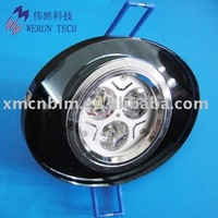 3W LED recessed downlight with glass cover