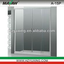 Aluminum Tempered glass Bath Screen shower room
