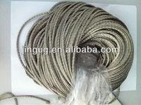 JINGU silver plated round copper braids