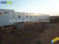 Modular worker camp building in Niger