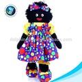 negro africano de encargo de la muñeca de la felpa muñeca