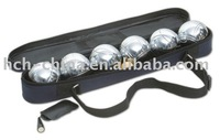 Garden Game 6 Metal Ball Bocce, Boules, Petanque set