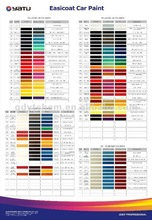 1K 2K Car Paint Colors