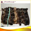 Venta al por mayor 100% de la virgen europea del pelo sin procesar humano de calidad superior extensiones de pelo a granel