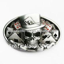 Jeans Belt Buckle Dice Skull CasinoTattoo Oval Belt Buckle For Men