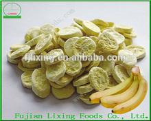 Freeze dried natural banana health food