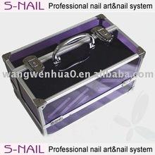 2015 S-nail purple cosmetic case, nail art case, makeup case
