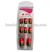 2012 NEW Metallic Red with glitter Artificial Finger art nails