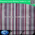De rayas de colores cepillado impreso de franela de algodón vestido de dama de honor para los patrones de los hombres t- shirt