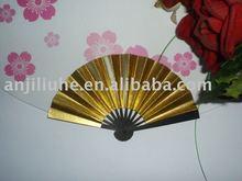 New arrival gold hand fan