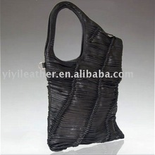 2098-2013 Special shape Fashion Lady Bag handmade leather women's bag