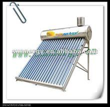 China panels solar evacuated tubes water heater