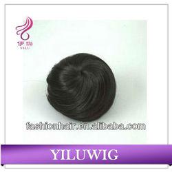 Dark Brown Curl Big Hair Bun