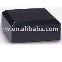 Square black trophy marble base
