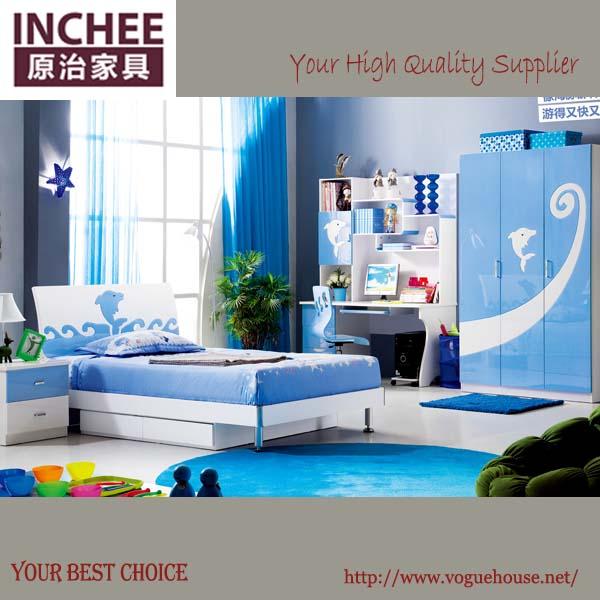 اللون الأزرق في غرفة النوم للأطفال