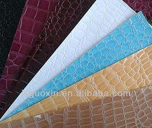 The crocodile grain pvc fashion handbags material