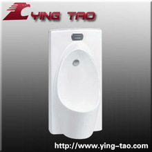 Hospital building white color high quality sanitary ware Ceramic wall and floor mounting outlet Urinal with sensors