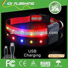 nylon webbing cool LED pet dog products