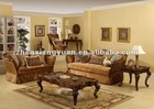 2013 wooden classic sofa Arab style living room furniture