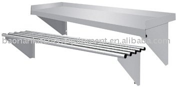 Stainless steel wall mounted pipe shelf View pipe shelf