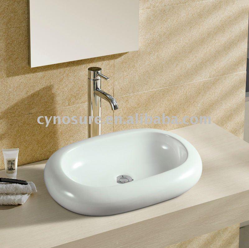 Oval de cerâmica pia do banheiro CY5037Pias para banheiroID do produto3660 -> Pia Para Banheiro De Ceramica