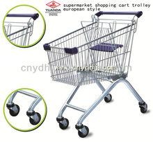 European style supermarket shopping trolley cart 60-240L