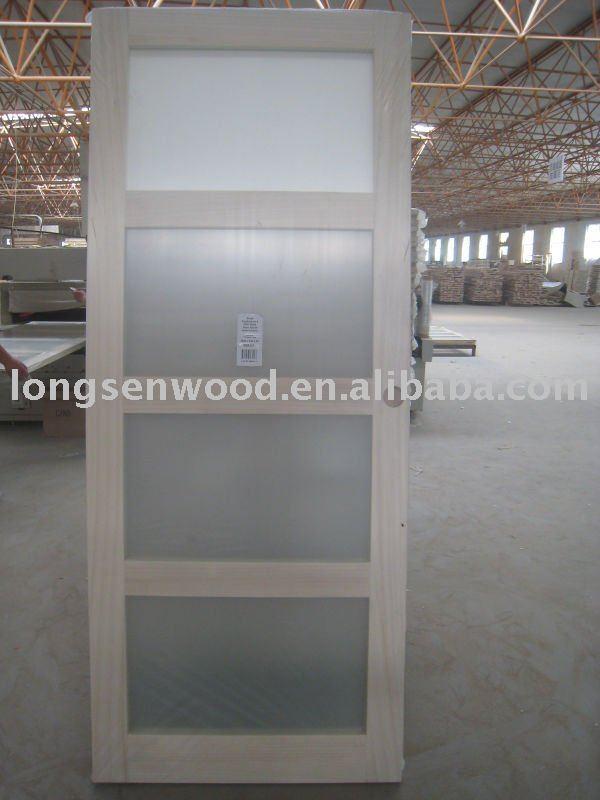 Verre portes coulissantes en bois portes id du produit for Portes coulissantes en bois