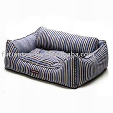 luxury pet beds for large dogs PB-83,stripe pattern with cushion