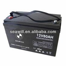 VRLA AGM battery 12v 80Ah for UPS/Inverter
