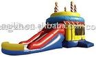 inflatable combo(bouncy and slide combo) Birthday Cake