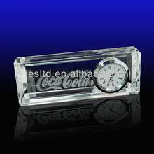 3d laser crystal desk clock