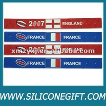 reflective custom logo cheap silicone slap band