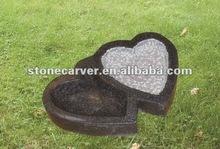 Stone Carving Heart Shape Birdbath
