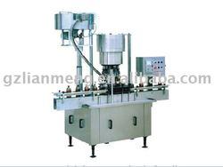 Automatic aluminum cap screw capping and sealing machine