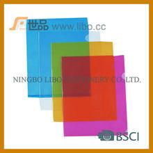 High quality PP L shape clear folder