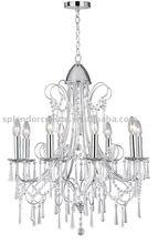 8 Light Full Cut Leaded Crystal Bohemia Chandelier Lighting