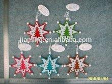 christmas felt decoration hanging star