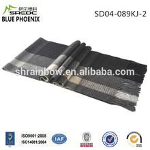 BLUE PHOENIX super soft woven plaid 100% cashmere shawl scarves