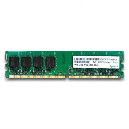 Apacer's Desktop Memory DDR2-667 PC-5300 Unbuffered DIMM 1GB/2GB UNB PC2-5300 CL5