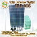 600w sistema de generador solar para la iluminación
