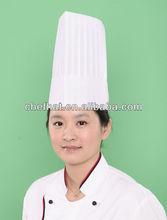 optical whie viscose falt top chef hat