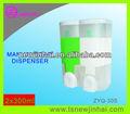 Doble 300ml*2 dispensadores de jabón para el hotel/cuarto de baño líquido a mano dispensador de jabón