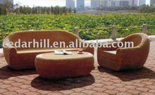 2012 outdoor furniture aluminium frame&PE rattan