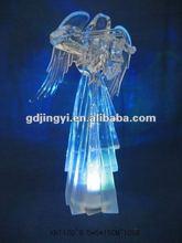 LED lights Christmas ornaments acrylic angel with violin