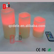 led multi-colour remote control wax candles