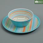 plastic melamine bowl and plate set