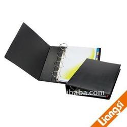 leather 4D metal ring binder