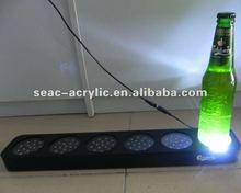carlsberg LED flashing Effects acrylic bottle glorifier display holder