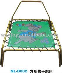 animal square mini trampoline with handrail